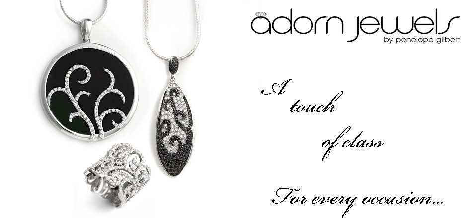 Black & White Cubic Zirconia Jewels
