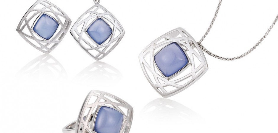 Sterling Silver and Blue Agate Jewellery by Breuning from Adorn Jewels