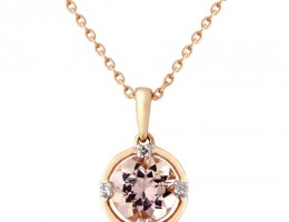 rose gold and morganite pendant