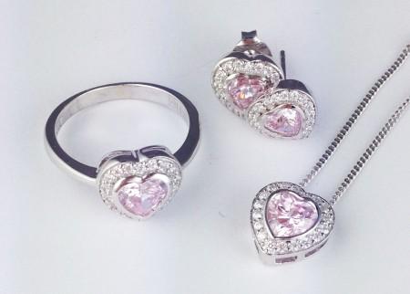 love hearts, ellani, silver, ellani, cz