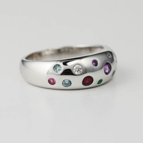 Wide Style Gemstone Ring