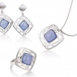 breuning blue gate silver pendant ring and earrings