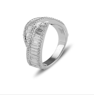 Adorn Jewels, Penelope Gilbert, Design, Special Order, Diamond, White Gold, Rings, Baguette