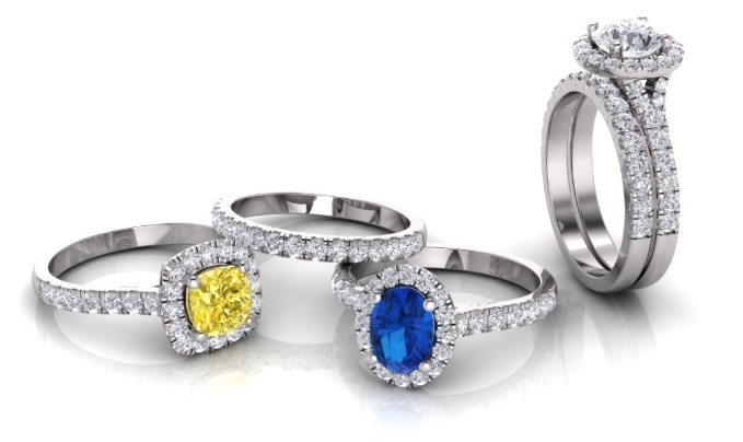Adorn Jewels, Adelaide Jewellery, Adelaide Jewelry, Custom manufacture, Halo ring