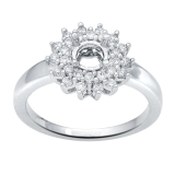 Adorn Jewels, Adelaide Jeweller, Adelaide Jewellery, Halo Ring, Engagement Ring, Custom manufacture 18ct white gold