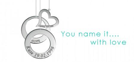 Adorn Jewels, Adelaide Jeweller , Adelaide Jewellery, Sterling Silver Pendants, Custom Manufacture, Name Engraved Pendants