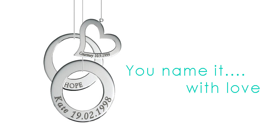 Adorn Jewels, Adelaide Jeweller , Adelaide Jewellery, Sterling Silver Pendants, Custom Manufacture, Name Engraved Pendants