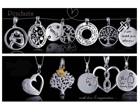 Adorn Jewels Adelaide Jewellery Sterling Silver Family pendants Mum Sister Daddy