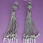 Adorn Jewels Platinum Specialist Earring Sterling Silver Tassel Fringe Fashion Week 2014 Chain Penelope Gilbert Jewellery Jewelry Ear Hook