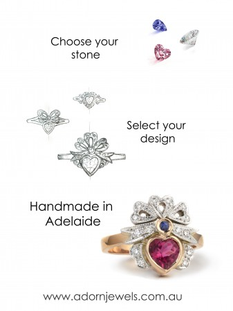 Adorn Jewels, Custom manufacture jewellery, Adelaide handmade rings, Adelaide South Australia Jewelry