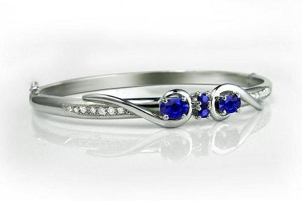 Adorn Jewels, Adelaide, Jewellery, Jeweller, Sapphire, Diamond, White Gold, Bangle, Handmade