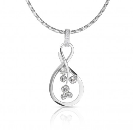 adorn jewels, adelaide jewellery, adelaide jeweller, diamond, infinity pendant, handmade silver, white gold, infinite