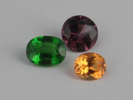 Almandine, Mandarin, Rhodlolite Garnet Adorn Jewels