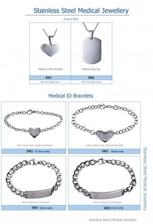 South Australia, Adelaide Jeweller , medical alert stainless steel
