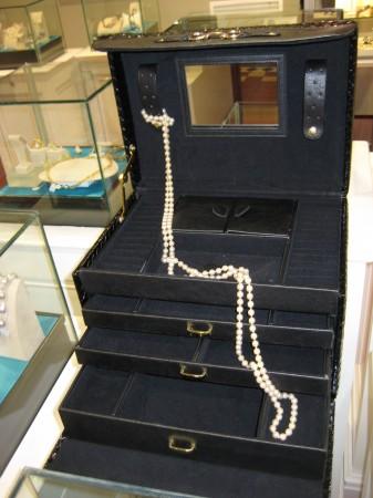 Jewellery box, black, adorn jewels, storage, jewellery, roll,