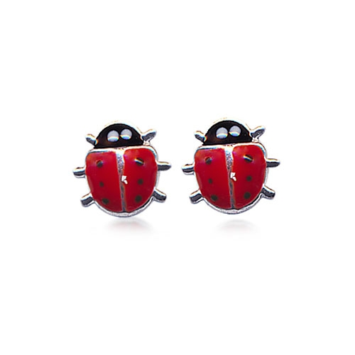 Adorn-Jewels-children-jeweller--kids-lady-bird-beetle-earrings-silver-online-australia