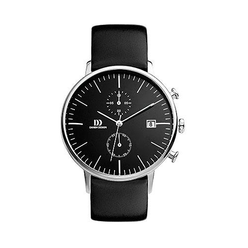Danish-design-watch-back--face-gold-case-black-strap-vintage-looking-IQ13Q975