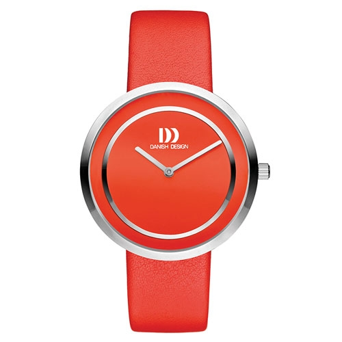 danish-design-round-facee-face-watch-red-leather-strap-IV24Q1064