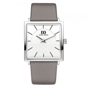 danish-design-square-face-watch-GREY--leather-strap-IV14Q1058