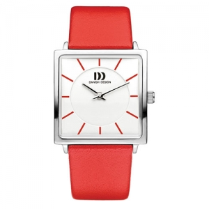 danish-design-square-face-watch-red-leather-strap-IV24Q1058