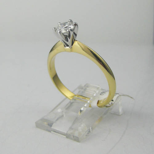 tcw white band ring womens wedding gold classic delicate media diamond