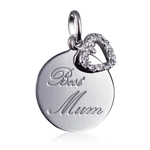 best mum engraved pendant