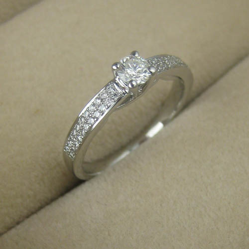 Pave Ring Diamond Set Adorn Jewels Wedding Engagement Eternity