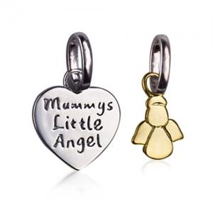 little angel silver pendant
