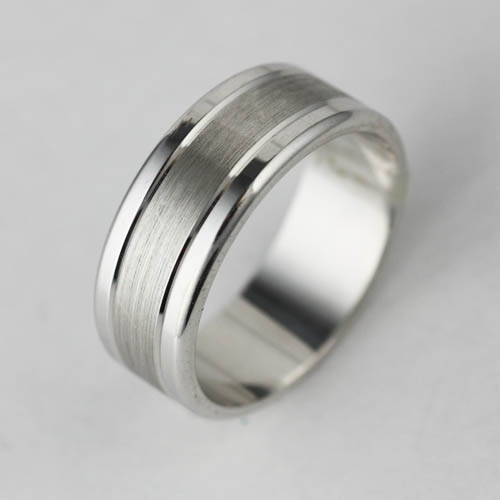 Wide Satin and Polished Band Adorn Jewels Wedding Engagement