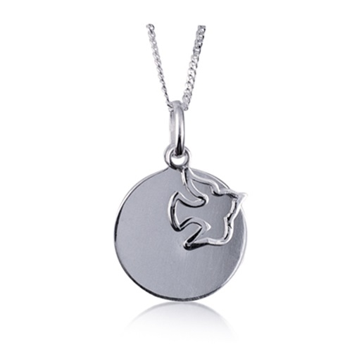 Dove Pendant engraving