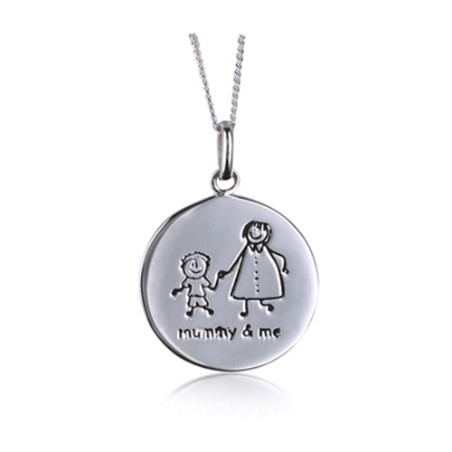 mum and boy pendant jewellery