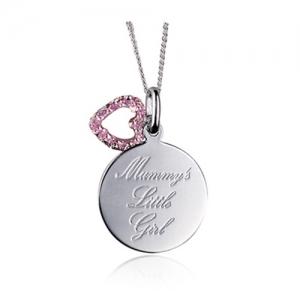 mummy jewellery pink cz pendant
