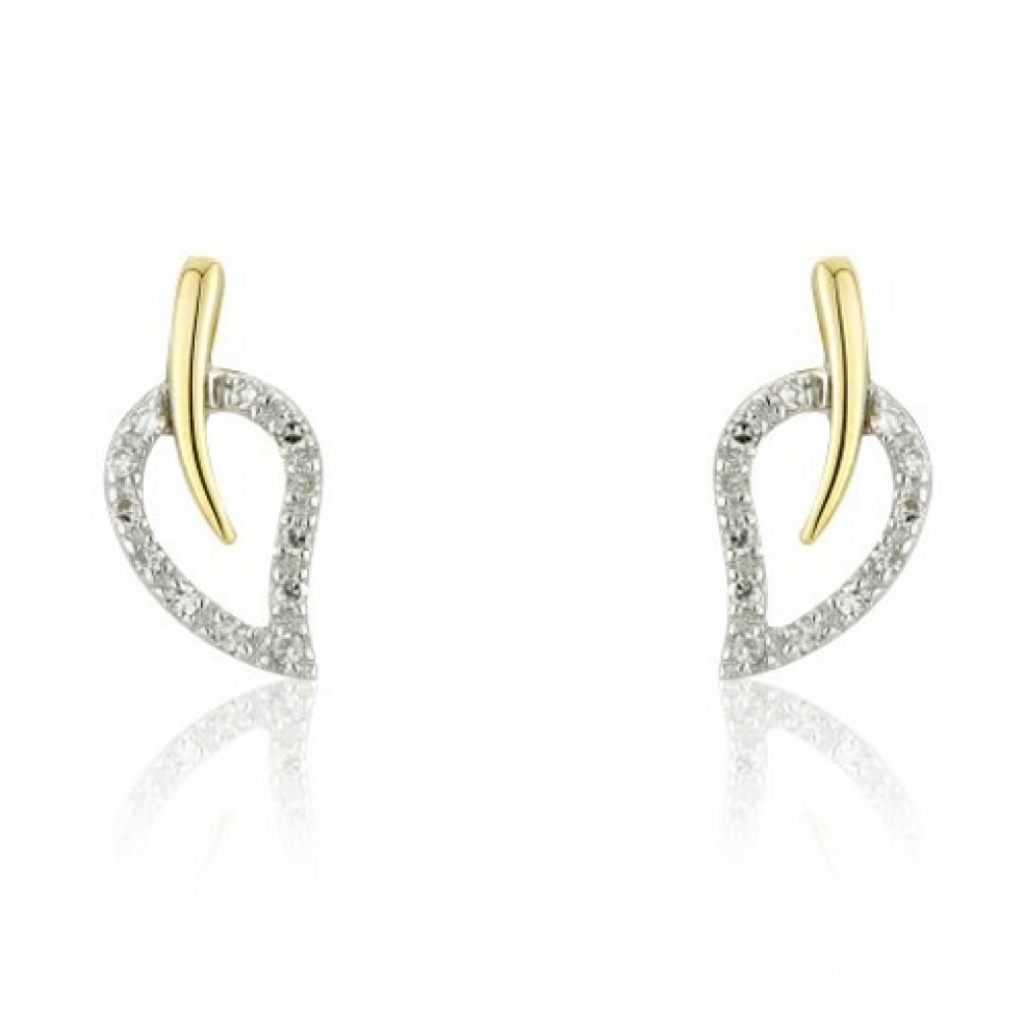 open-heart-shape-leaf-two-tone-adorn-jewels-Australia-online-jewellery-earrings