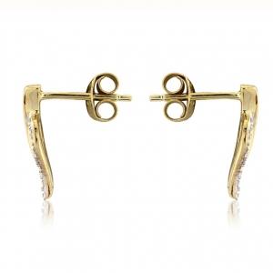 open-heart-shape-leaf-two-tone-adorn-jewels-Australia-online-jewellery-earrings