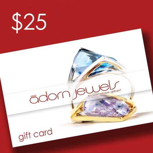 adorn jewels Gift Card voucher $25 online jewellery jewellery silver gold enagement ring desinger jewels