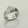 diamond set engagment ring Adorn Jewels Adelaide South Australia online jeweller halo set diamond