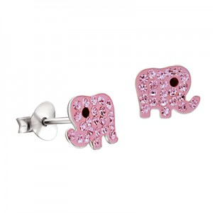 adorn jewels adelaide south australia jeweller jewelry elephant pink crystal earrings baby earrings
