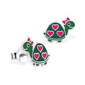 adorn jewels adelaide south australia jeweller jewelry turtle heart enamel earrings baby earrings